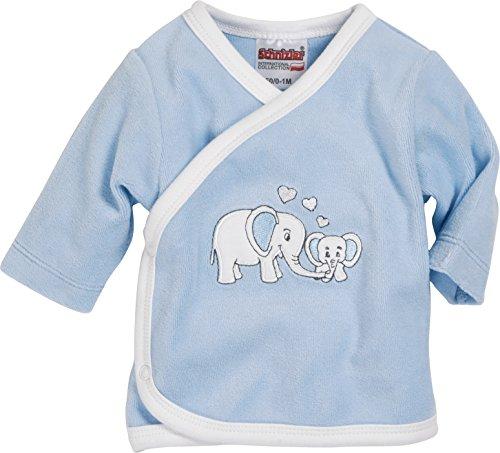 Schnizler - Nicki Wrap-Around Shirt Long Sleeve Elephant - Chemise mixte bébé, bleu (Blue), Premature (Taille fabricant:44)