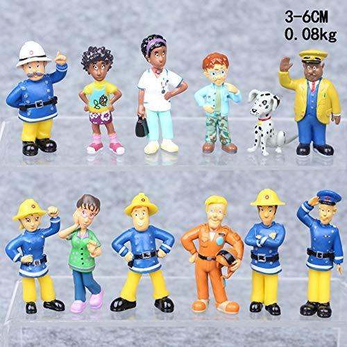 Dhl 12 Styles Fireman Sam Rettungsschwimmer Puppe Anime Puppe Dekoration Auto-Geschenk-5CM