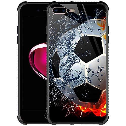 CARLOCA iPhone 8 Plus Case,iPhone 7 Plus Cases for Men Boys,Sizzling Soccer Case Mate Pattern Design Shockproof Anti-Scratch Case for Apple iPhone 7/8 Plus
