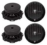 4 Rockford Fosgate PPS4-8 8-Inch 1000 Watt 4-Ohm MidRange Car Stereo Speakers
