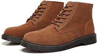 2019 Mens New Lace-up Flats Motocycle Combat Boots For Men High Top Boot Lace Up Style Durable Leisure Leather Round Toe Extraordinary Comfort Technology Anti Slip Matte Outdoor