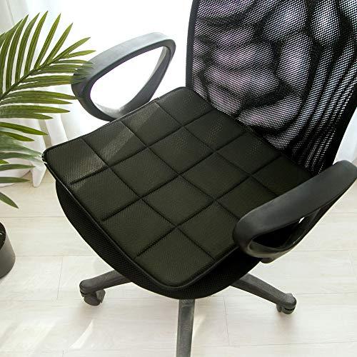 ningdeCK Bambus Anthrazit Stuhl Sitzkissen, atmungsaktiv Sofa Sitzkissenbezug Pad Matte, nicht null, 40 x 40 schwarz, 40 x 40 cm