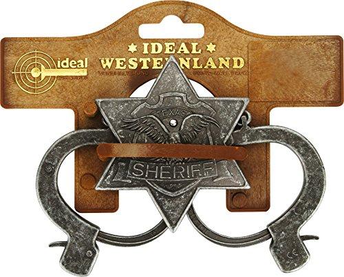 Ideal - Pi7127377 - Set de Sherif 2 Pieces ( Menottes et Insigne) Pvc