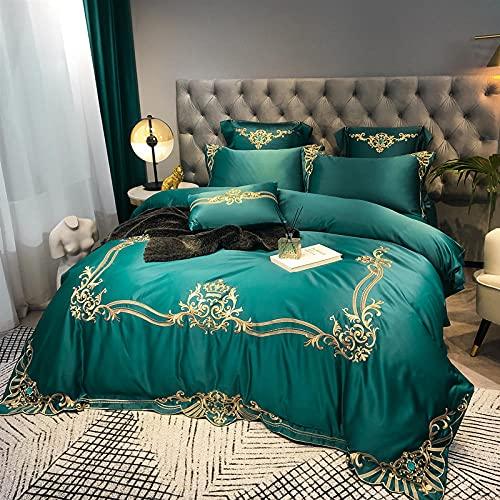 Juego De Funda NóRdica Cama 90,60 Rodillo de seda de satén, cama de seda, de algodón, algodón, color sólido, soltero, cama doble, un solo edredón especial es conjunto de zócalos de almohada-D_1,8 m d