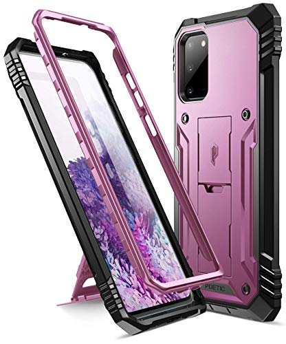 Poetic Samsung Galaxy S20 Custodia,Robusta con Cavalletto Full-Body Doppio Strato Antiurto, Proteggischermo Integrato, Serie Revolution Custodia per Samsung Galaxy S20,Porpora