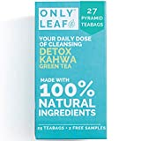 ONLYLEAF Detox Kahwa Green Tea (27 Pyramid Tea Bags) For Natural Body Cleanse