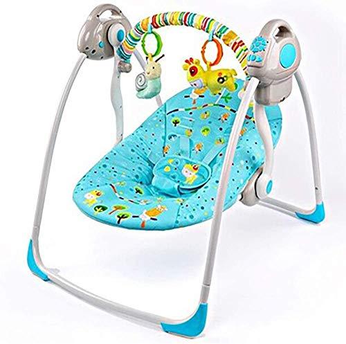 Rabbfay Portable De La Silla Mecedora De Bebé, Columpio Silla De La Música Plegable del Bebé Mecedora Conveniente De Nacimiento 0 A 24 Meses,2