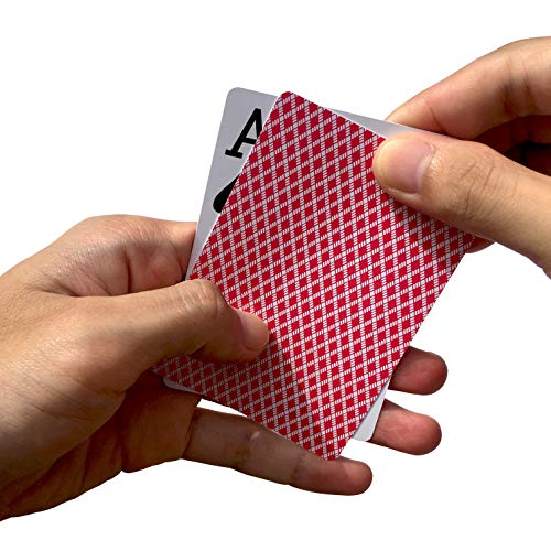 Neasyth Waterproof Plastic Playing Cards,Jumbo Index, for Texas Hold'em, Blackjack, Pinochle, Euchre, for Magic Props, Pool Beach Water Games (2 PCS Blue)