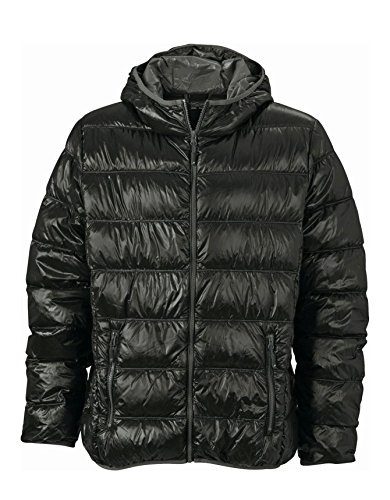 2Store24 Men's Down Jacket in Black/Grey Size: XXL
