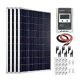 Giosolar Panel Solar de Alta eficiencia de 400 W 12 V con Control de Carga MPPT LCD DE 40 A para Autocaravana, Caravana, Barco y yate
