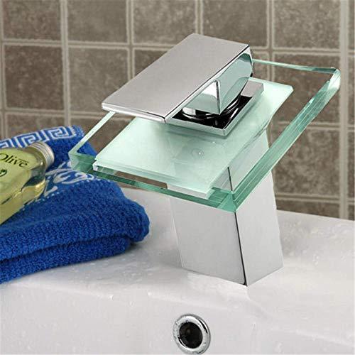 Grifos LED de color cambiante cascada grifo del fregadero del baño grifo de la cocina