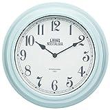 Kitchen Craft 25,5 cm Living Nostalgia Reloj de Pared para Interiores, Vintage Azul