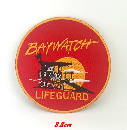 Baywatch Badeanzug Lifeguard Logo bestickt Bügelbild