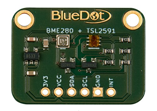 BlueDot BME280 + TSL2591 Sensoren für Arduino: Licht, Temperatur, Feuchte, und Luftdruck