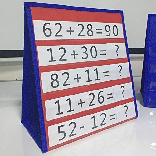 Alicer Double Sided Table Top Pocket Chart - für Einzelpersonen oder Kleingruppen im Klassenzimmer oder zu Hause