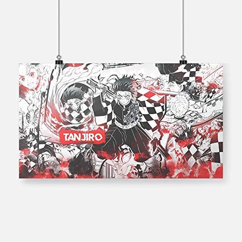 Póster de Anime Lienzo Pintura Mural decoración Sala de Estar Dormitorio Estudio decoración del hogar impresión-Sin marco36x20cm