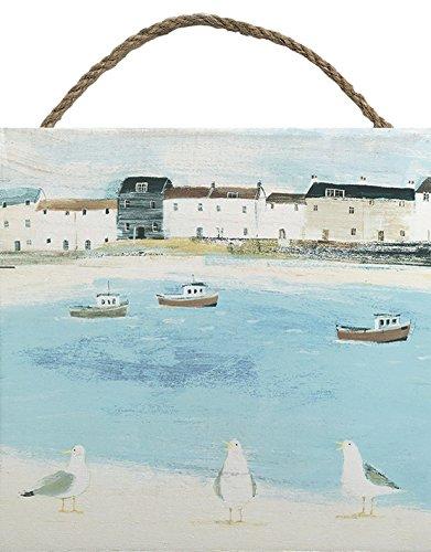 Art Print 40 x 40 x 1.3 cm Cornish Sea Dog Paper Multi-Colour Art Group The Hannah Cole