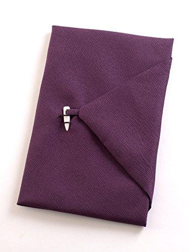 日本製東雲台付ふくさ 紙箱入 慶弔両用袱紗 結婚式 冠婚葬祭 男性用 女性用 (紫)