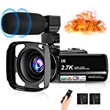 """toberto 2.7K Video Camera HD Vlogging Camera Camcorder for YouTube 3.0"""" IPS Touch"""