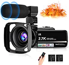 Video Camera, toberto Vlogging Camera 2.7K 30FPS Camcorder Full HD Camera 36MP 1080P Digital Recorder 3.0