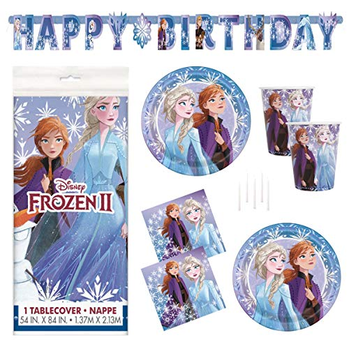 Why Choose Frozen 2 Party Supplies Set - Serves 16 - Includes Banner Decoration, Tablecover, Large P...