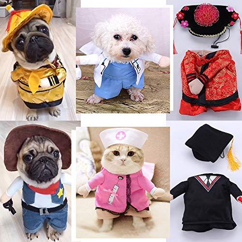 Fesjoy Hund Kleidung lustige Mode aufrecht Kostüm Kleid Prinzessin Cowboy Bachelor Kaiser Anzug Halloween Party Cosplay Kostüme
