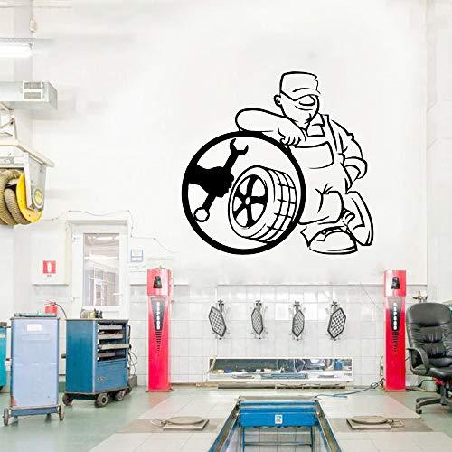 HNXDP NEU Autoreparatur Wandaufkleber Wohnkultur Aufkleber für Reparaturgeschäft Vinyl Aufkleber Wallpaper Poster Wandbild 57cmX59cm