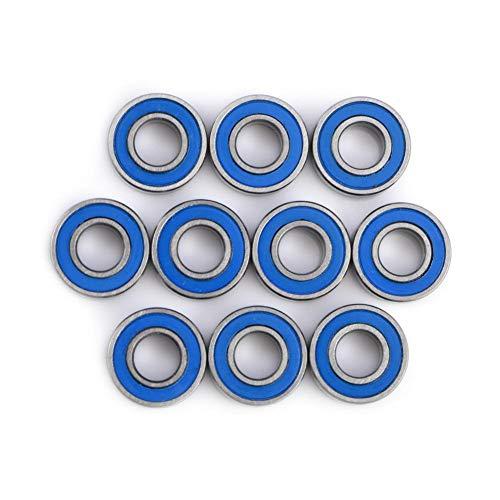 Kugellager, 10 Stück 5x11x4mm MR115-2RS Miniatur-Kugellager Stahl Doppel-geschirmtes Rillenkugellager für 3D-Drucker, Quadcopter oder Modell