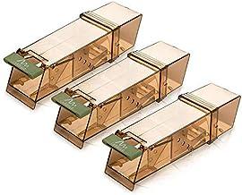 Gardigo 623583 Trampa para Ratones Vivos Sin Muerte 3 Piezas Captura y Caza Humano no daña al ratón Reutilizable para Interior y Exterior, 18 x 6 x 5 cm
