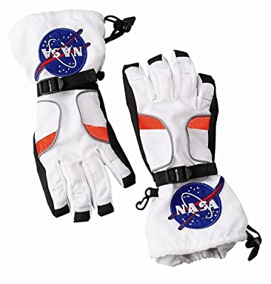 Essential equipment for an astronaut! Wrist toggles Official NASA patches Textured palm for easy grip Brand new in manufacturer packaging