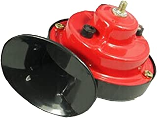 Pak523 - Cuerno de Aire para Coche, 12 V, Tono Doble, electromagnético, Nivel de Sonido, 110 dB, Universal, para vehículos, bocina, Coches, Camiones, 1 Unidad, Ver Imagen, Tamaño Libre
