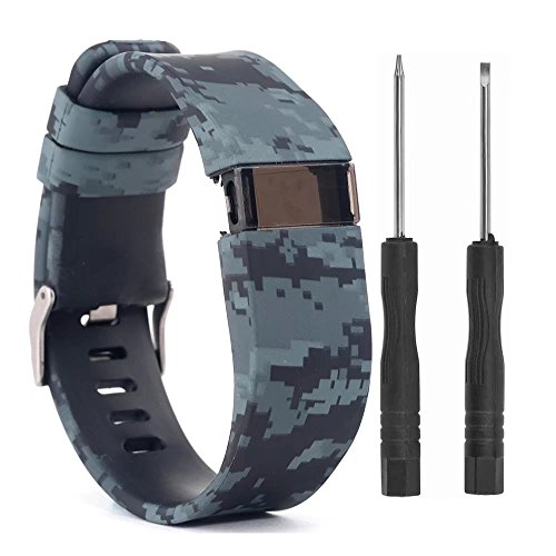 VAN-LUCKY Silicon Replacement Bands Strap Bracelet Wristband for Fitbit Charge HR Band Accessories Large (Not Fit Fitbit Charge, Fitbit Charge 2)