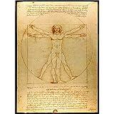 Qilo El Código Da Vinci Juegos de Puzzles 500/1000/1500 Piezas Rompecabezas Mundial de la Obra Maestra de Vitruvio, decoración del hogar Regalo de los Juguetes (Size : 500 Pieces)