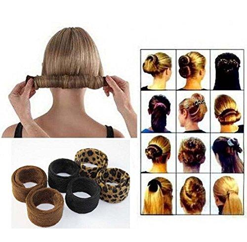Shager 1Pcs Cheveux Maker, Chignon Maker Filles Femmes Hair Bun Maker Hair Donut Hair Bande Pince Bob Maker, Hair Accessoires Donut de Coiffure, Accessoires à Chignon Mariage 48 * 3CM (Noir)