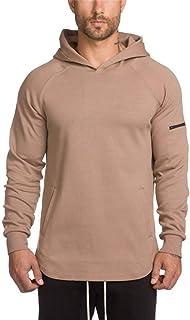 Men's Slim T Shirt Hoodie Long Sleeve Sweatshirt Fitness Sports Casual Running Training Cotton Sweatshirt