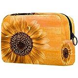 Sunflower Blossom Bloom - Bolsa de maquillaje para bolso de viaje, neceser de viaje, organizador de cosméticos, portátil, versátil, con cremallera, para mujeres y niñas