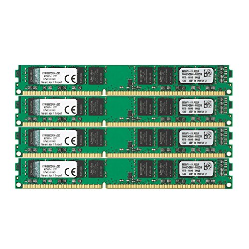 Kingston KVR1333D3N9K4/32G werkgeheugen 32 GB (DDR3 Non-ECC CL9 DIMM Kit, 240-pin, 1,5 V)