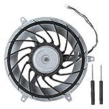 Ventilador de refrigeración interno de repuesto, pieza de reparación de ventilador de refrigeración de CPU ABS profesional para consola de juegos PS3