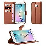 Cadorabo Funda Libro para Samsung Galaxy S6 Edge Plus en MARRÓN Chocolate - Cubierta Proteccíon con Cierre Magnético, Tarjetero y Función de Suporte - Etui Case Cover Carcasa