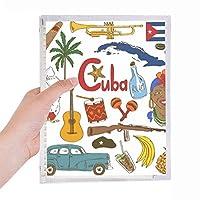 キューバの風景の動物の国旗 硬質プラスチックルーズリーフノートノート