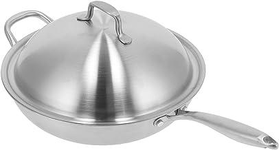 Poêle wok, poêle à frire ustensile de cuisine chauffage uniforme pour cuisinière à induction pour cuisinière électrique po...