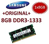 8 GB 204 pin DDR3-1333 SO-DIMM, 1333Mhz, PC3-10600S, CL9