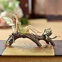 森エンジェル樹脂デコレーションエルフの装飾家の装飾のギフトヨーロッパのホームデコレーション (Color : D)