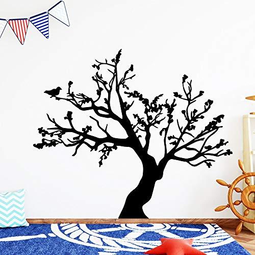 GJQFJBS Babyzimmer mit PVC-Wandsticker aus klassischem Nussbaum und selbstklebendem Vogelvinyl-Wandsticker als Tapete