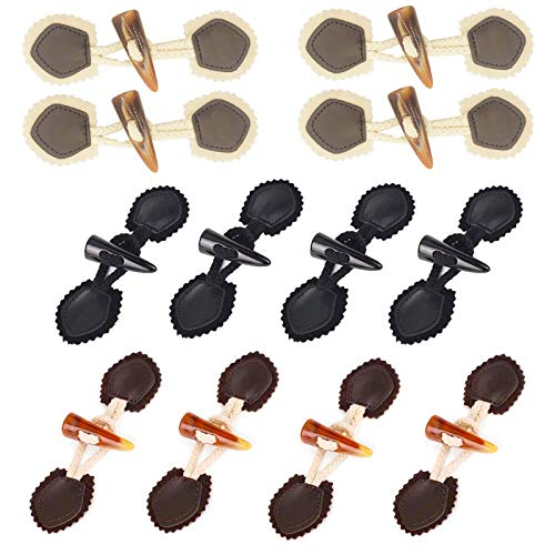12pcs Cuernos Botones, Cuerno Toggle Botón, Botones costura madera, Botones Palanca Madera...