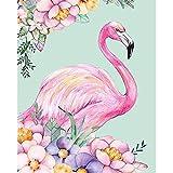 DIY「Colored flamingo」Kits de pintura por números para adultos y niños Fin de semana de Halloween Juegos casuales Lienzo preimpreso Dibujo de imagen artística Sin marco -40x50cm
