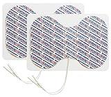 TensCare 2 Electrodos de mariposa reutilizables para dispositivo de electroterapia. Conectores universales compatibles con la mayoría de los dispositivos TENS, EMS y IFT