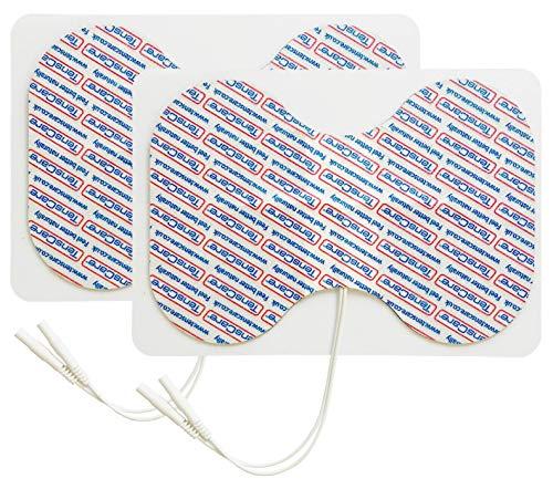 TensCare - Elettrodi a farfalla, perfetti per grandi aree come la schiena, gli abiti e le cosce. Utilizzata con la macchina TENS e EMS