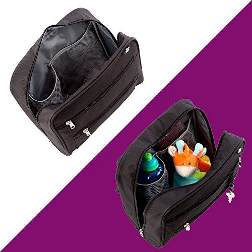 Organizer 2-in-1 BTR MINI Borsa Baby-Go – Borsa universale per passeggino e borsa portatutto RESISTENTE ALL'ACQUA. GRATIS 2 Clip da passeggino. L'accessorio definitivo per gli oggetti del bambino