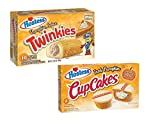 Hostess Pumpkin Spice Twinkies and Iced Pumpkin Cupcakes Bundle - PACK OF 2